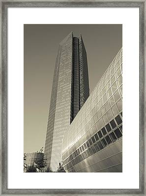 Low Angle View Of The Devon Tower Framed Print