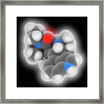 Lsd Drug Molecule Framed Print