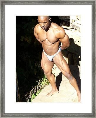 Male Muscle  Framed Print by Jake Hartz