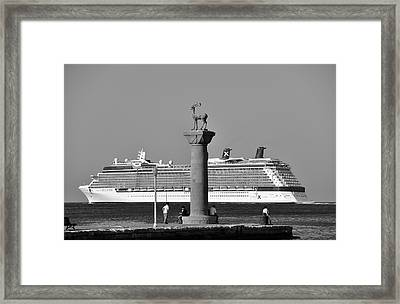 Mandraki Port Framed Print by George Atsametakis
