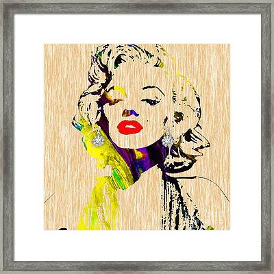 Marilyn Monroe Diamond Earring Collection Framed Print by Marvin Blaine