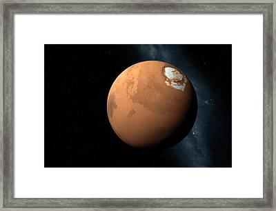 Mars Framed Print by Detlev Van Ravenswaay