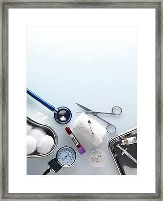 Medical Equipment Framed Print by Tek Image