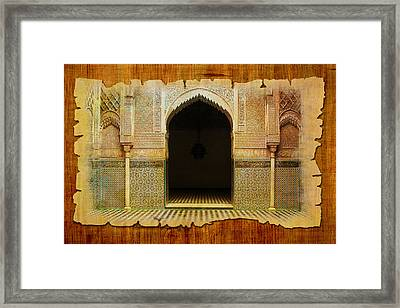 Medina Of Faz Framed Print