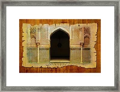 Medina Of Faz Framed Print by Catf