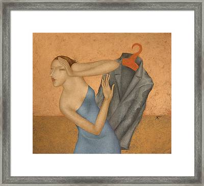 Meeting Framed Print by Nicolay  Reznichenko