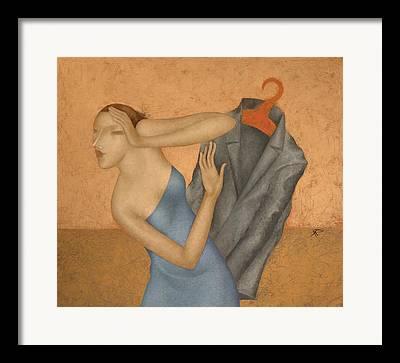 Coat Hanger Paintings Framed Prints