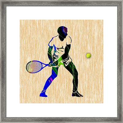 Mens Tennis Framed Print by Marvin Blaine