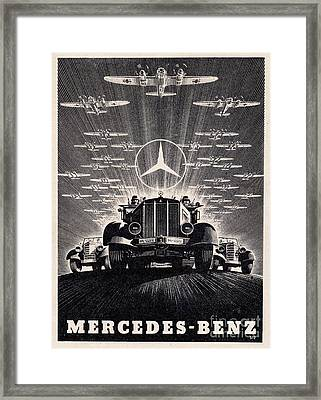Mercedes - Benz Framed Print