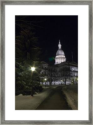 Michigan Capital Framed Print