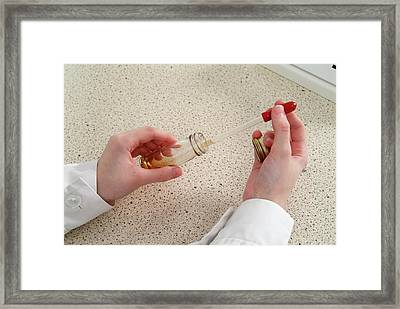 Microbiology Culture Preparation Framed Print by Trevor Clifford Photography