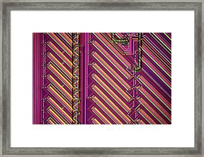 Microchip Surface Framed Print