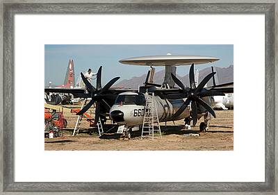 Military Aircraft In Salvage Yard Framed Print