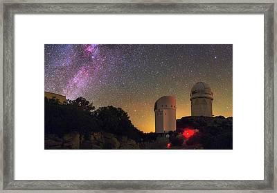Milky Way Over Kitt Peak Observatory Framed Print