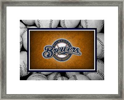 Milwaukee Brewers Framed Print by Joe Hamilton