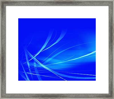 Modern Blue Abstract Framed Print