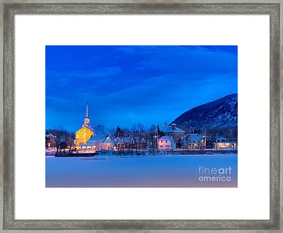 Mont Saint Hilaire Quebec Winter Framed Print