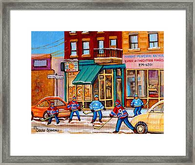 Montreal Paintings Framed Print by Carole Spandau