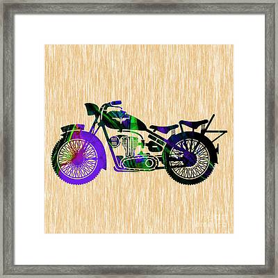 Motorcycle Framed Print by Marvin Blaine
