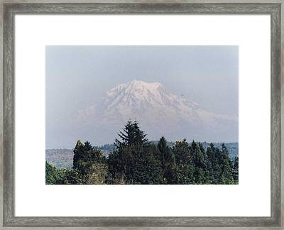 Framed Print featuring the photograph Mount Rainier  by Myrna Walsh
