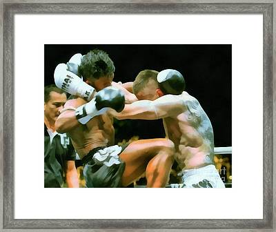 Muay Thai Arts Of Fighting Framed Print by Rames Ratyantarakor