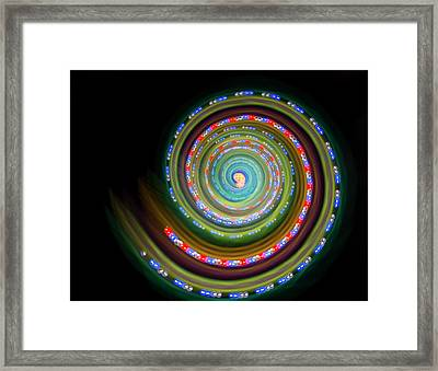 Multicoloured Light Trails Framed Print