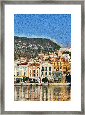 Mytilini Port Framed Print by George Atsametakis