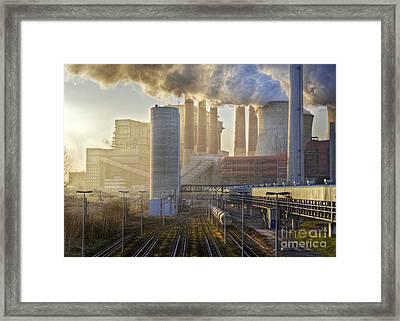 Neurath Power Station Germany Framed Print by David Davies