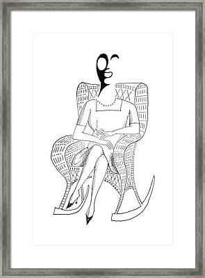 New Yorker May 5th, 1962 Framed Print by Saul Steinberg
