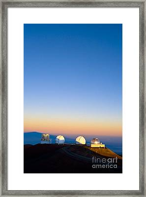 Observatories On Summit Of Mauna Kea Framed Print