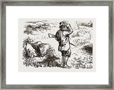 Off To The Moors, Uk 1873 Framed Print