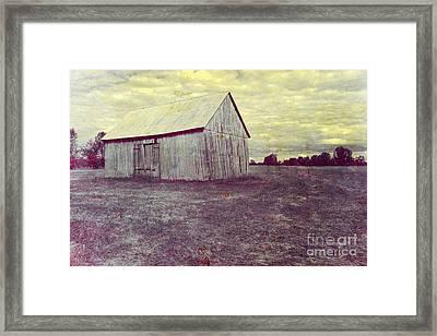 Old Barn Framed Print by Sophie Vigneault