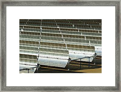 Parabolic Trough Solar Power Plant Framed Print by Philippe Psaila