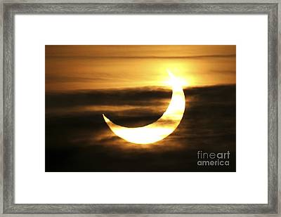 Partial Solar Eclipse, January 2011 Framed Print