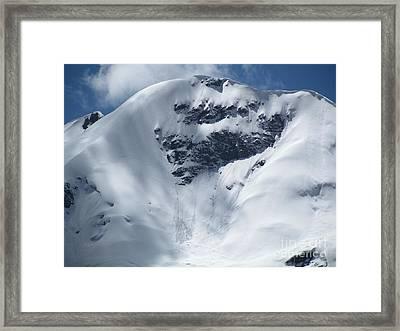 Peru Mountain Snow Framed Print