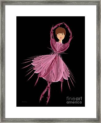 6 Pink Ballerina Framed Print by Andee Design