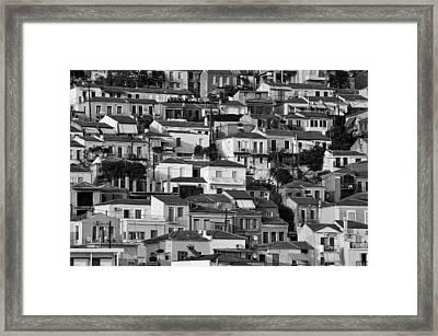 Plomari Town Framed Print by George Atsametakis
