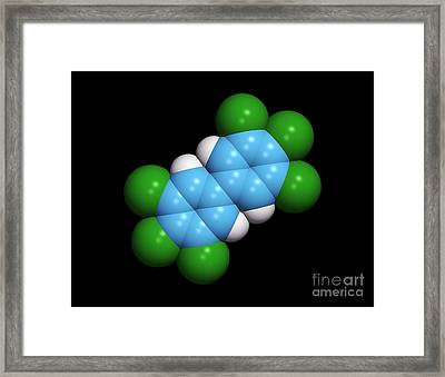 Polychlorinated Biphenyl Molecule Framed Print by Dr. Tim Evans