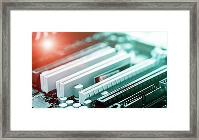 Printed Circuit Board Framed Print by Wladimir Bulgar