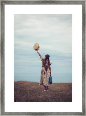 Refugee Girl Framed Print by Joana Kruse