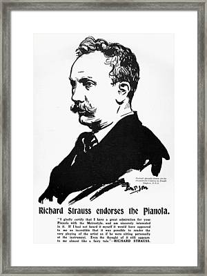 Richard Strauss (1864-1949) Framed Print by Granger