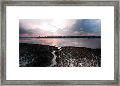 River Medway Sunset Framed Print by Dawn OConnor