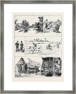 Round The World Yachting In The Ceylon Framed Print