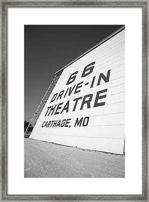 Route 66 Drive-in Theatre Framed Print by Frank Romeo