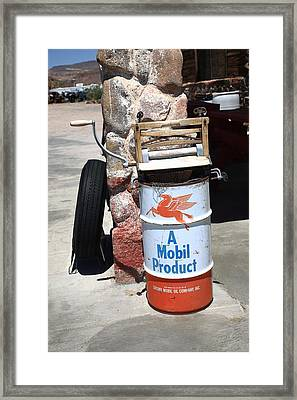 Route 66 Filling Station Framed Print by Frank Romeo