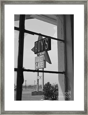 Route 66 Highway Signs Motels Gas Stations And Art Deco Architec Framed Print by ELITE IMAGE photography By Chad McDermott