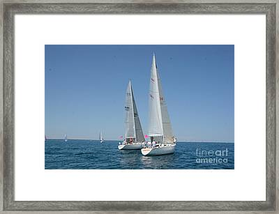 Sailboat Race Framed Print by Randy J Heath