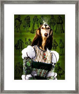 Saluki Art Canvas Print Framed Print by Sandra Sij