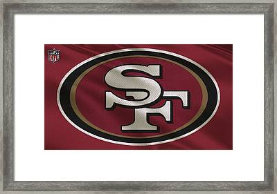 San Francisco 49ers Uniform Framed Print by Joe Hamilton