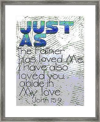 Scripture Series Framed Print by Ginger Geftakys